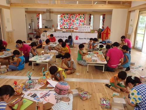 宮城県名取市の子ども達とプラモデル作りを行いました。