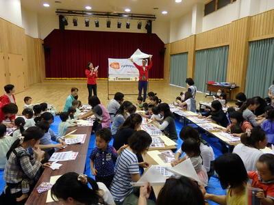 福島県郡山市の子ども達とカード作りとダンスを行いました。